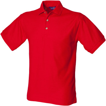 textil Herre Polo-t-shirts m. korte ærmer Henbury HB410 Classic Red