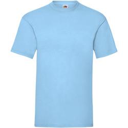 textil Herre T-shirts m. korte ærmer Fruit Of The Loom 61036 Sky Blue