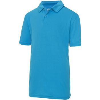 textil Børn Polo-t-shirts m. korte ærmer Just Cool  Sapphire