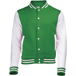 textil Jakker Awdis JH043 Kelly Green / White
