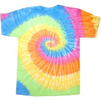 textil Dame T-shirts m. korte ærmer Colortone Rainbow Eternity