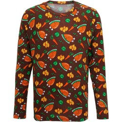textil Herre Langærmede T-shirts Christmas Shop CS002 Brown