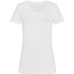 textil Dame T-shirts m. korte ærmer Stedman Stars  White