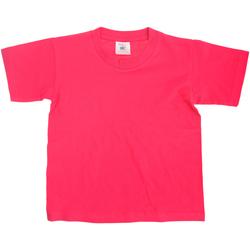 textil Børn T-shirts m. korte ærmer B And C Exact Fuchsia