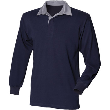 textil Herre Polo-t-shirts m. lange ærmer Front Row Rugby Navy/Slate collar