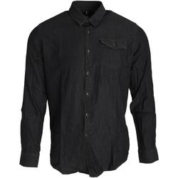 textil Herre Skjorter m. lange ærmer Premier PR222 Black Denim