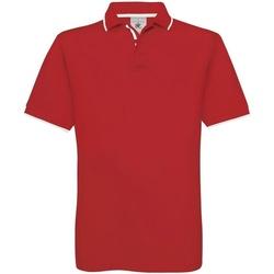 textil Herre Polo-t-shirts m. korte ærmer B And C BA351 Red/White