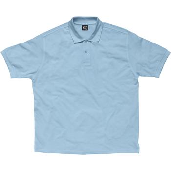 textil Dame Polo-t-shirts m. korte ærmer Sg SG59F Sky Blue