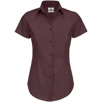 textil Dame Skjorter / Skjortebluser B And C B715F Luxurious Red