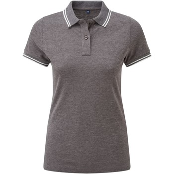 textil Dame Polo-t-shirts m. korte ærmer Asquith & Fox AQ021 Charcoal/White