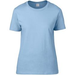 textil Dame T-shirts m. korte ærmer Gildan 4100L Light Blue