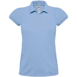 textil Dame Polo-t-shirts m. korte ærmer B And C Heavymill Sky Blue
