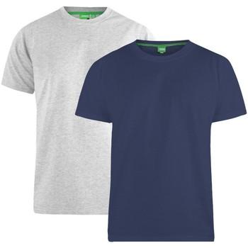 textil Herre T-shirts m. korte ærmer Duke  Navy/Grey