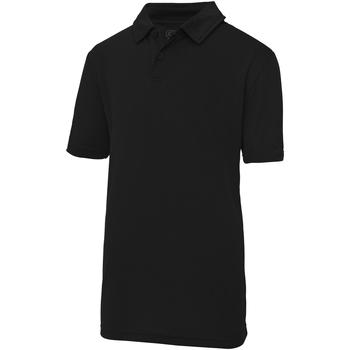 textil Børn Polo-t-shirts m. korte ærmer Awdis JC40J Jet Black
