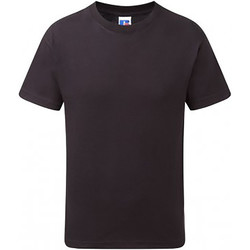 textil Børn T-shirts m. korte ærmer Russell 155B Black