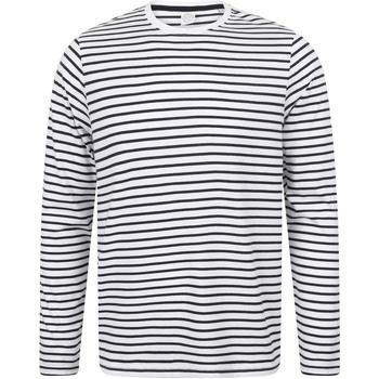 textil Langærmede T-shirts Skinni Fit SF204 White/Oxford Navy