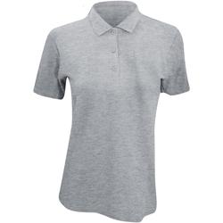 textil Dame Polo-t-shirts m. korte ærmer Anvil 6280L Heather Grey