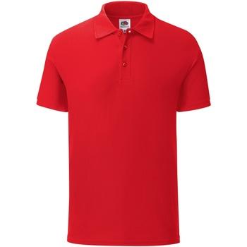 textil Herre Polo-t-shirts m. korte ærmer Fruit Of The Loom 63044 Red