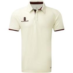 textil Herre Polo-t-shirts m. korte ærmer Surridge SU013 White/Maroon Trim