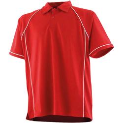 textil Børn Polo-t-shirts m. korte ærmer Finden & Hales LV372 Red/White