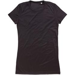textil Dame T-shirts m. korte ærmer Stedman  Black Opal