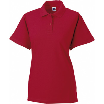 textil Dame Polo-t-shirts m. korte ærmer Russell 569F Classic Red