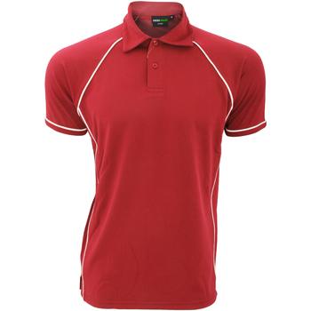 textil Herre Polo-t-shirts m. korte ærmer Finden & Hales Piped Red/White