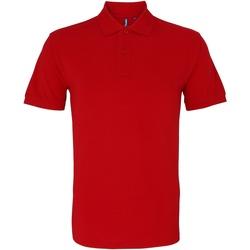 textil Herre Polo-t-shirts m. korte ærmer Asquith & Fox AQ010 Cherry Red