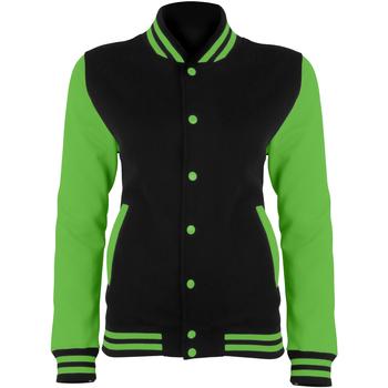 textil Dame Jakker Awdis JH044 Jet Black/Electric Green