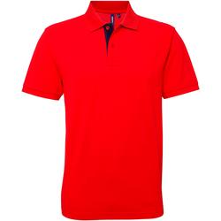 textil Herre Polo-t-shirts m. korte ærmer Asquith & Fox AQ012 Red/ Navy