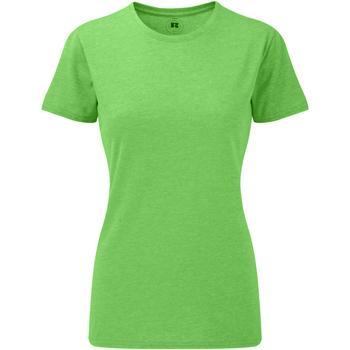 textil Dame T-shirts m. korte ærmer Russell 165F Green Marl
