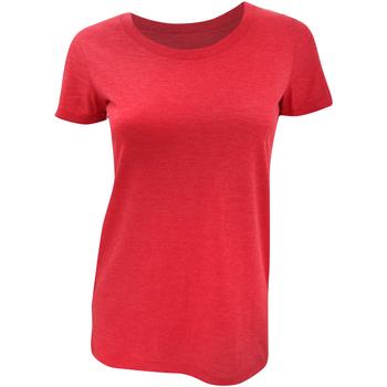 textil Dame T-shirts m. korte ærmer Bella + Canvas BE8413 Red Triblend