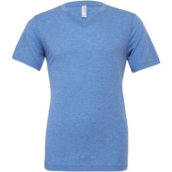 textil Herre T-shirts m. korte ærmer Bella + Canvas CA3415 Blue Triblend