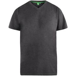 textil Herre T-shirts m. korte ærmer Duke  Charcoal Melange
