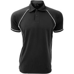 textil Herre Polo-t-shirts m. korte ærmer Finden & Hales Piped Black/White