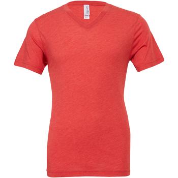textil Herre T-shirts m. korte ærmer Bella + Canvas CA3415 Light Red Triblend