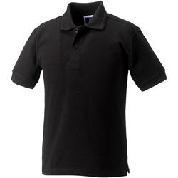 textil Pige Polo-t-shirts m. korte ærmer Jerzees Schoolgear 599B Black