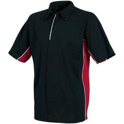 textil Herre Polo-t-shirts m. korte ærmer Tombo Teamsport TL065 Black/Red/White Piping