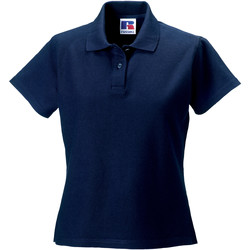 textil Dame Polo-t-shirts m. korte ærmer Russell J577F French Navy