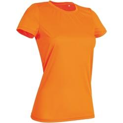 textil Dame T-shirts m. korte ærmer Stedman  Cyber Orange