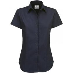 textil Dame Skjorter / Skjortebluser B And C SWT84 Navy Blue