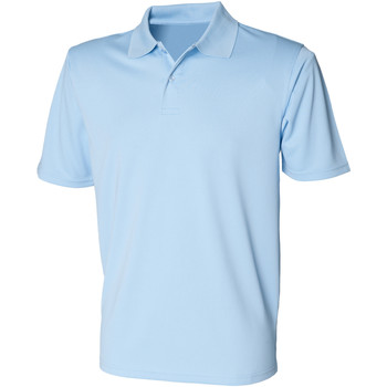textil Herre Polo-t-shirts m. korte ærmer Henbury HB475 Light Blue
