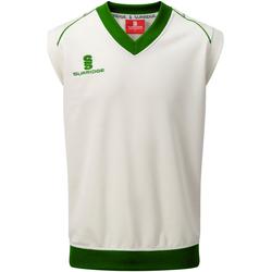 textil Herre Toppe / T-shirts uden ærmer Surridge SU012 White/ Green Trim