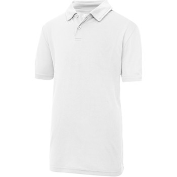 textil Børn Polo-t-shirts m. korte ærmer Just Cool  Arctic White