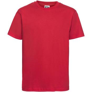 textil Børn T-shirts m. korte ærmer Russell 155B Classic Red