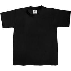 textil Børn T-shirts m. korte ærmer B And C TK301 Black