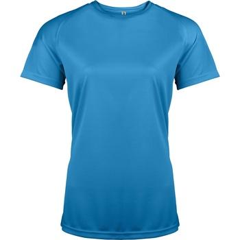textil Dame T-shirts m. korte ærmer Kariban Proact PA439 Aqua Blue