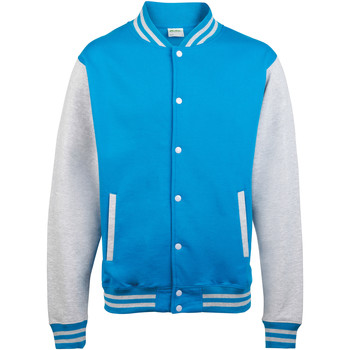 textil Børn Jakker Awdis JH43J Sapphire Blue / heather Grey
