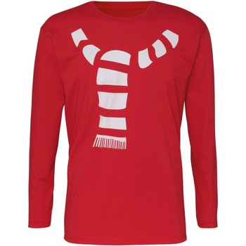 textil Herre Langærmede T-shirts Christmas Shop CJ205 Red