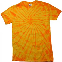 textil T-shirts m. korte ærmer Colortone Tonal Spider Gold